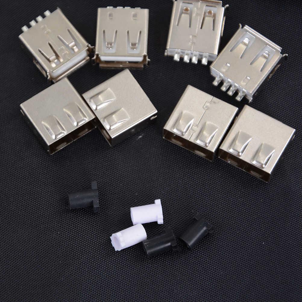 5X Loại Cáp Micro USB Cắm 4 Pin Nam Adapter USB 2.0 Hàn Cổng Kết Nối Đen Bao Vuông Đầu Kết Nối máy Tính