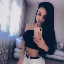 Off Shoulder Sexy Female Knitted Crop Top