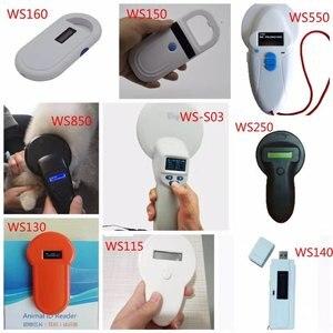 Image 1 - Lector de chips RFID portátil de 134,2 KHz para mascotas ISO11784/11785 FDX B para pantallas LCD de perros y gatos, escáner de Microchip para etiquetas, escáner de código de barras