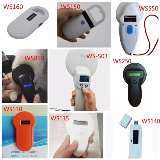 Portable 134.2KHz Pet RFID Chip Reader ISO11784/11785 FDX B For Dog Cat LCD Display Animal Microchip Scanner Tag Barcode Scanner