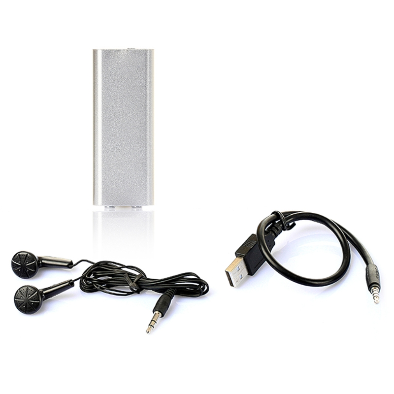 8G Voice Activated Mini Voice Recorder Sound Recording MP3 Recorder with Earphones and USB Cable for Business Conference