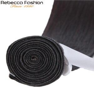Image 4 - Rebecca düz saç demetleri fırsatlar perulu 100% insan saçı örgüsü demetleri 8 ila 28 inç düz insan saçı postiş