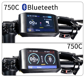 Top 48V 750W Bafang BBS02B Mid Drive Motor Electric Bike Conversion Kit with Lock 12Ah/17.5Ah Bicycle Battery built in Samsung Cell 15