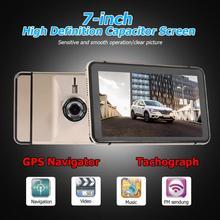 Новинка 7 дюймов Android gps навигация Автомобильный видеорегистратор Камера Sat Nav Bluetooth WiFi AV-IN карта Sat Nav грузовик gps навигаторы автомобильные