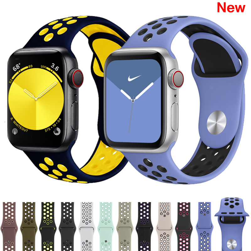 Strap for Apple watch band 42mm 38mm silicone correa iwatch 5 4 3 2 44mm 40mm sport bracelet pulseira apple watch 4 accessories