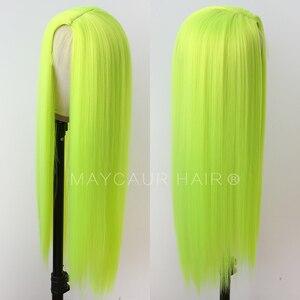 Image 4 - Uzun düz sentetik saç kahküllü peruk uzun siyah saç peruk kadınlar için