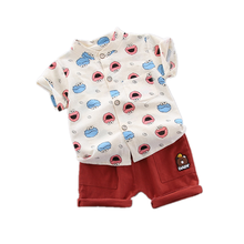 New Summer Baby Girls Clothes Suit Children Boys Clothing Cotton Shirt Shorts 2Pcs/sets Toddler Fashion Costume Kids Tracksuits bear leader kids clothes 2018 fashion sleeveless summer style baby girls shirt shorts belt 3pcs suit children clothing sets