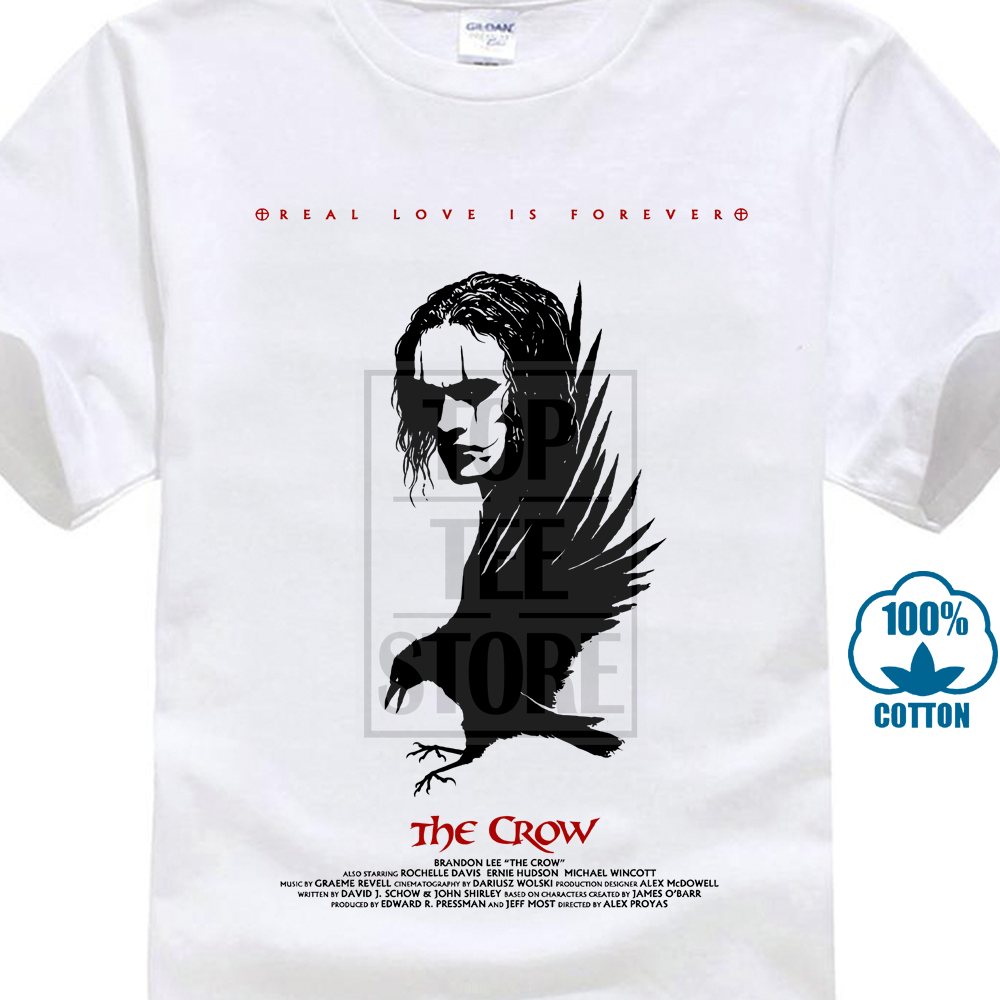 The Crow V1 Alex Proyas Movie Poster 1994 T Shirt White All Sizes S 4Xl 017017 image