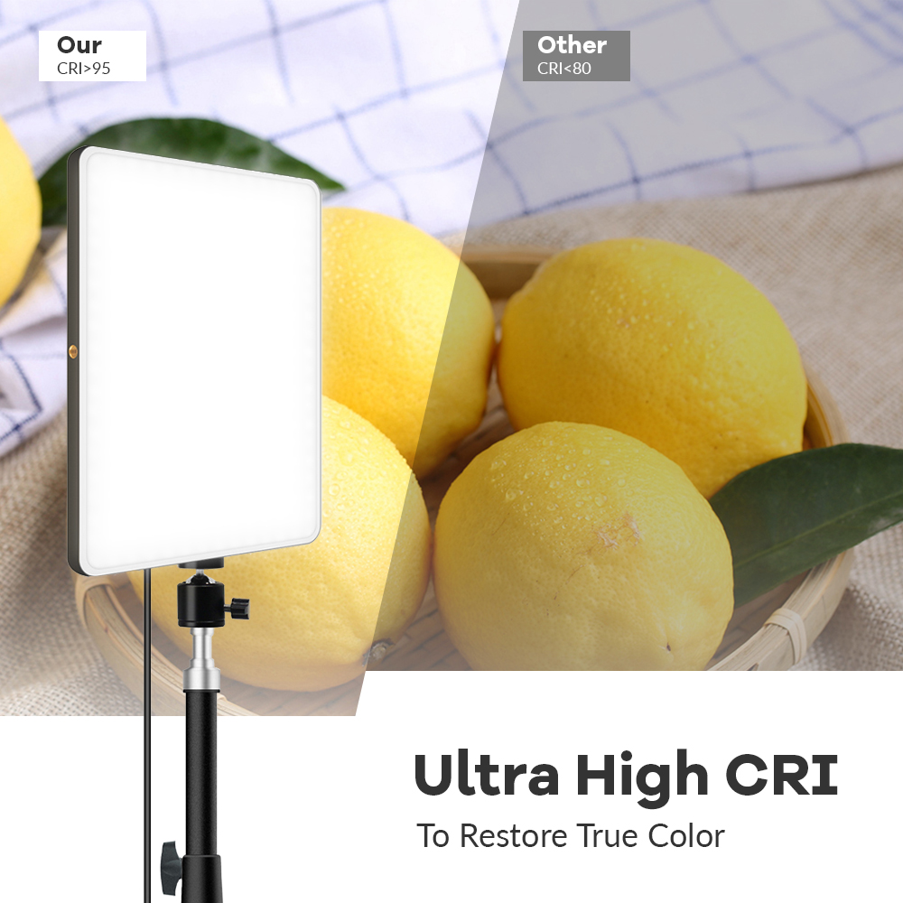 H2566e4fbe7494cd398122c42feadf7529 LED Video Light With Professional Tripod Stand Remote Control Dimmable Panel Lighting Photo Studio Live Photography Fill-in Lamp