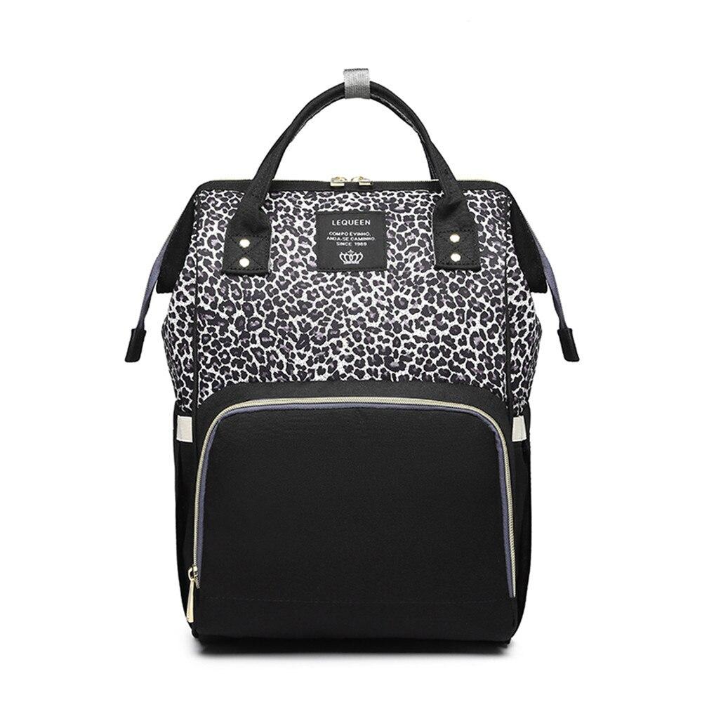 Leopard Diaper Bag Waterproof Maternity Bag Nappy Bags Large Capacity Baby Backpack Bag Travel Mummy Bag Nursing Bag