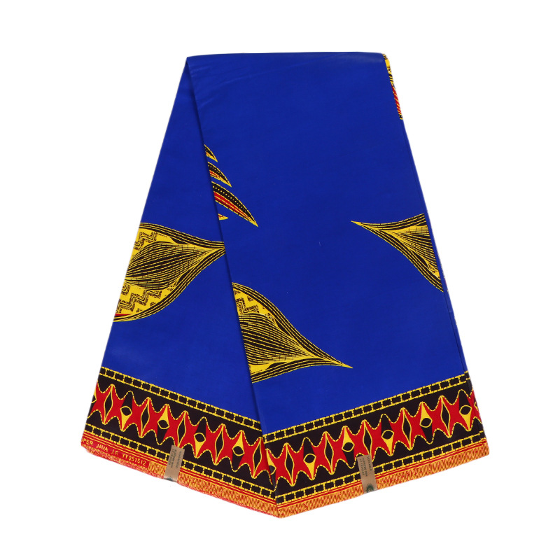 Latest Fashion Design 100% Cotton Royal Blue African Print Fabric pagnes africain title=