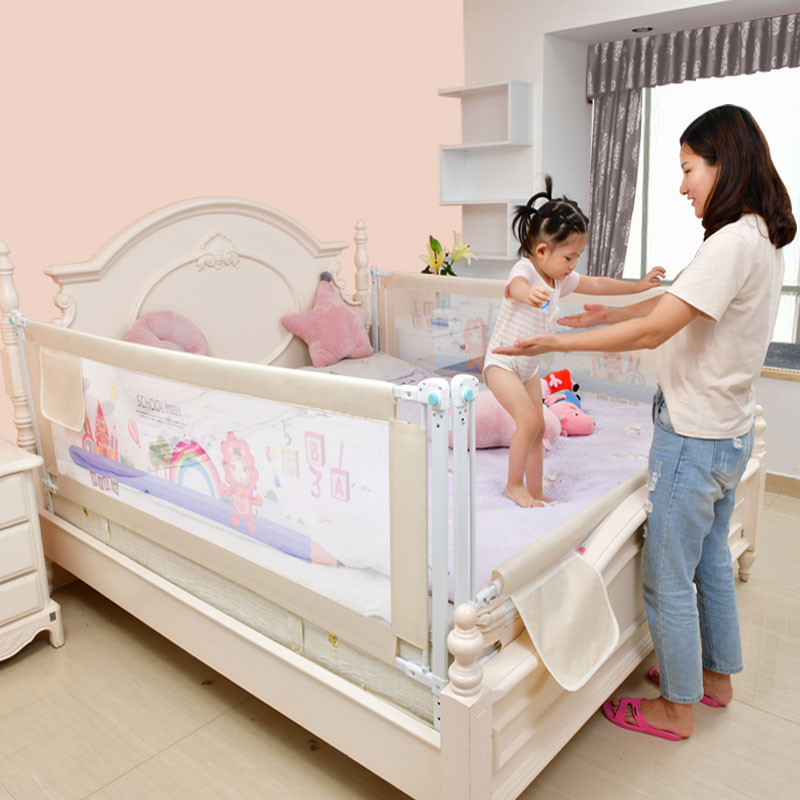 Image 2 - Baby Bed Fence Home Kids playpen Safety Gate Products child Care Barrier for beds Crib Rails Security Fencing Children Guardrail-in Baby Playpens from Mother & Kids