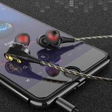Music Dual Drive Stereo Earphone In-Ear Earbuds for Samsung Galaxy S9 Plus S9+ S8+ S8 Note 8 A8 A5 A7 2018 J3 J5 J7 2019 стоимость
