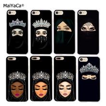 Мусульманские девушки мягкий, с бесцветным прозрачным Мягкий силиконовый чехол для телефона для iphone 11 pro max 5S se 6 6s 6 7 8 plus XR XS MAX чехол