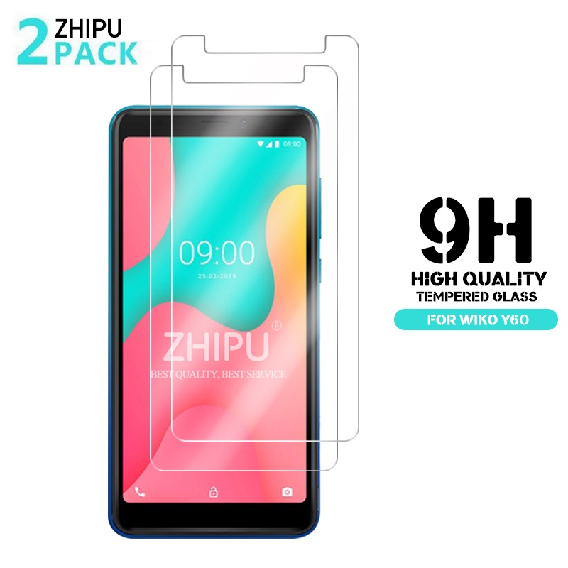 Wiko Y60 2Pcs Tempered Glass For Wiko Y60 Glass Screen Protector 2.5D 9H Premium Tempered Glass Wiko Y60 Protective Film
