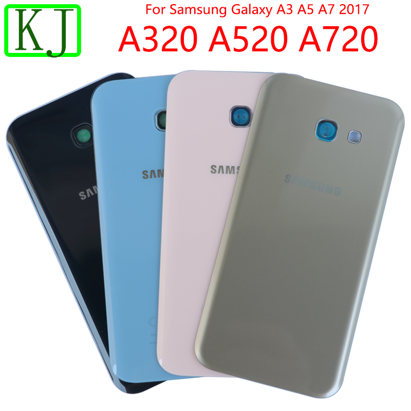 Back Housing For Samsung Galaxy A3 A5 A7 2017 A320 A520 A720 Battery Glass Cover Back Door Camera Housing Case