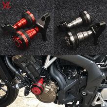 Nowy Flash oferty motocykl CNC Crash Pads rama suwak Protector pasuje do Honda CB 650F CBR 650F 650R CB650F 2014 -2018