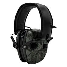 Orejeras para tiro electrónico táctico, almohadillas de espuma para el oído, antiruido, amplificación, caza, protección auditiva
