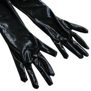Image 5 - بدلة للجسم جذابة مصنوعة من الجلد الصناعي بتصميم رطب بدون كروتشليس بدلة Catsuit لارتدائها أزياء لعشيقة بالقدم مقاس كبير