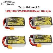 Tattu R-Line версия 3,0 V3 1300/1400/1550/1800/2000 мА/ч 120C 4S 6S 4,2 V Lipo батарея XT60 разъем FPV гоночный Дрон Радиоуправляемый квадрокоптер