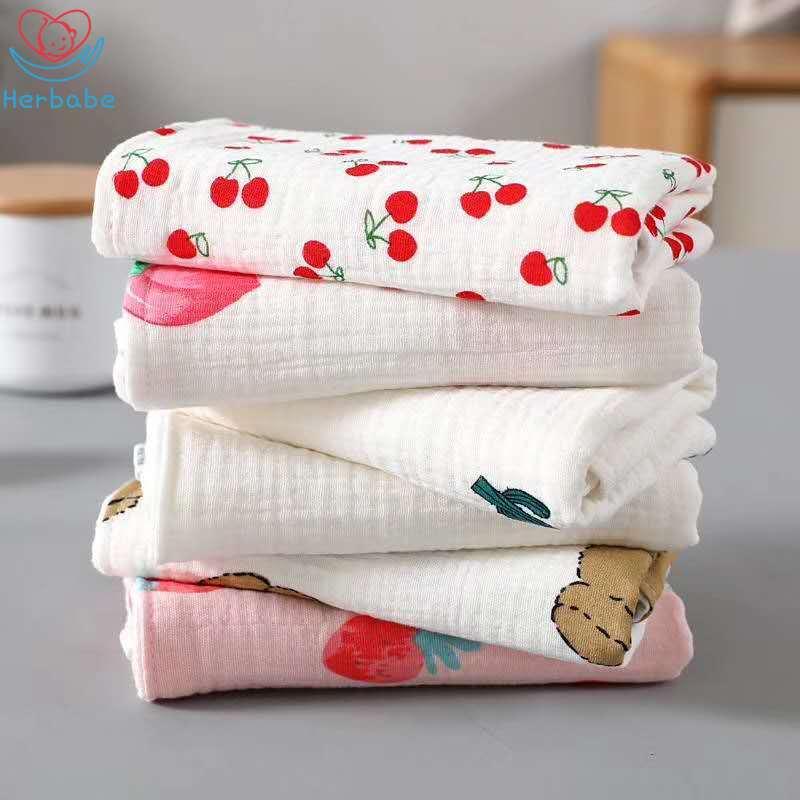 Купить herbabe 6 шт 100% хлопковые полотенца для новорожденных слюнявчик