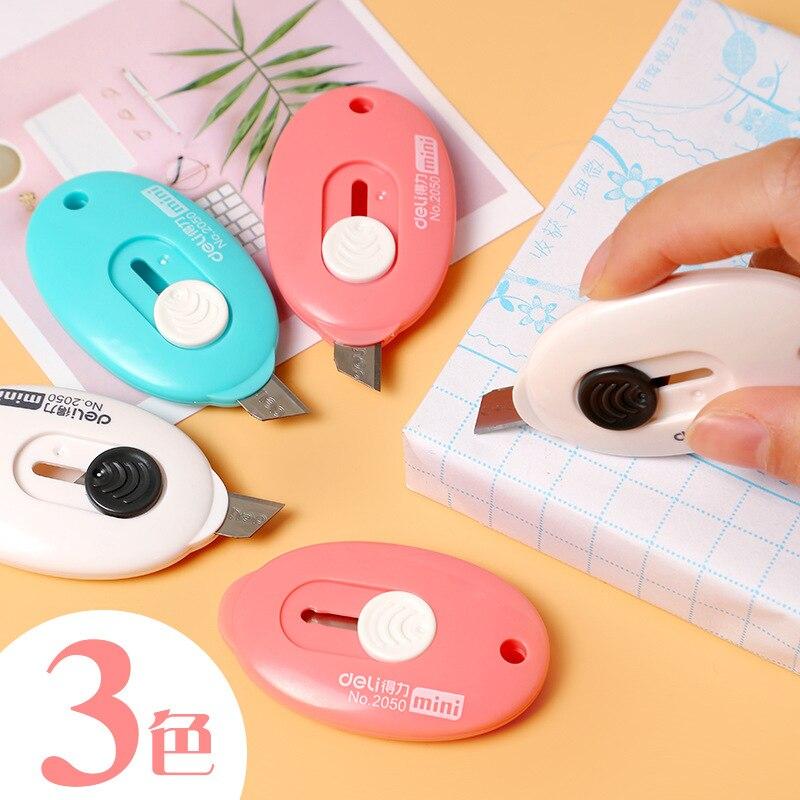 Deli 2050 Mini Knife Parcel Stripping Maker Letter Unpacking Paper Cutter Portable Knife Wallpaper