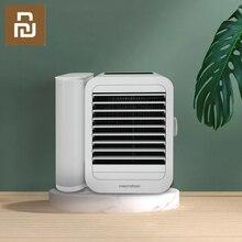 Mini ar condicionado xiaomi microhoo 3 em 1, mais novo mini ventilador de refrigeração com tela sensível ao toque, umidificador artificial, ventilador de mesa