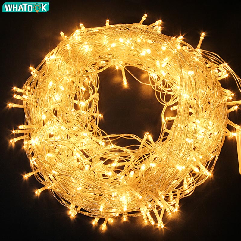 220V LED פיית אור חג המולד חיצוני מחרוזת אורות גרלנד 10M 20M 30M 50M 100M עמיד למים מסיבת חתונת עץ חג האיחוד האירופי מנורה