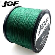 Nova série original jof multifilament pe trançado linha de pesca 4 fios trança corda japão material 1000m 10 80 lb