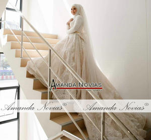 Image 2 - Nuevo diseño vestido de Boda nupcial musulmán