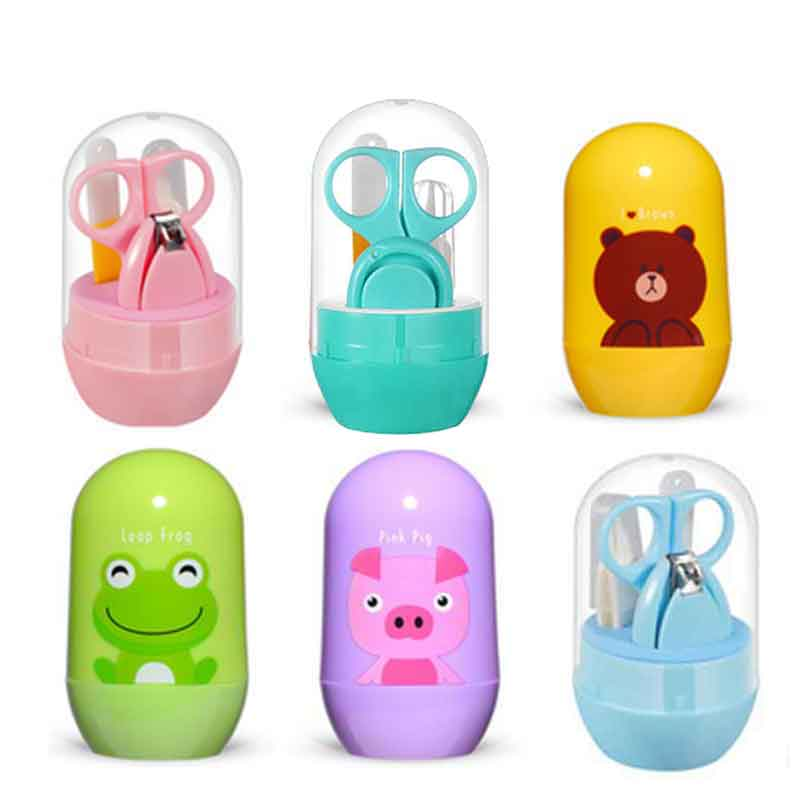 Lovely Baby Nail Care Set Child Scissors Practical Baby Nail Clipper Trimmer Convenient Daily Baby Nail Shell Shear Manicure Kit image