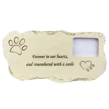 NEW Pet Memorial Stone With Photo Frame Loss Of Pet Gift Dog or Cat Grave Pet Supplies and Pet Accessories(China)