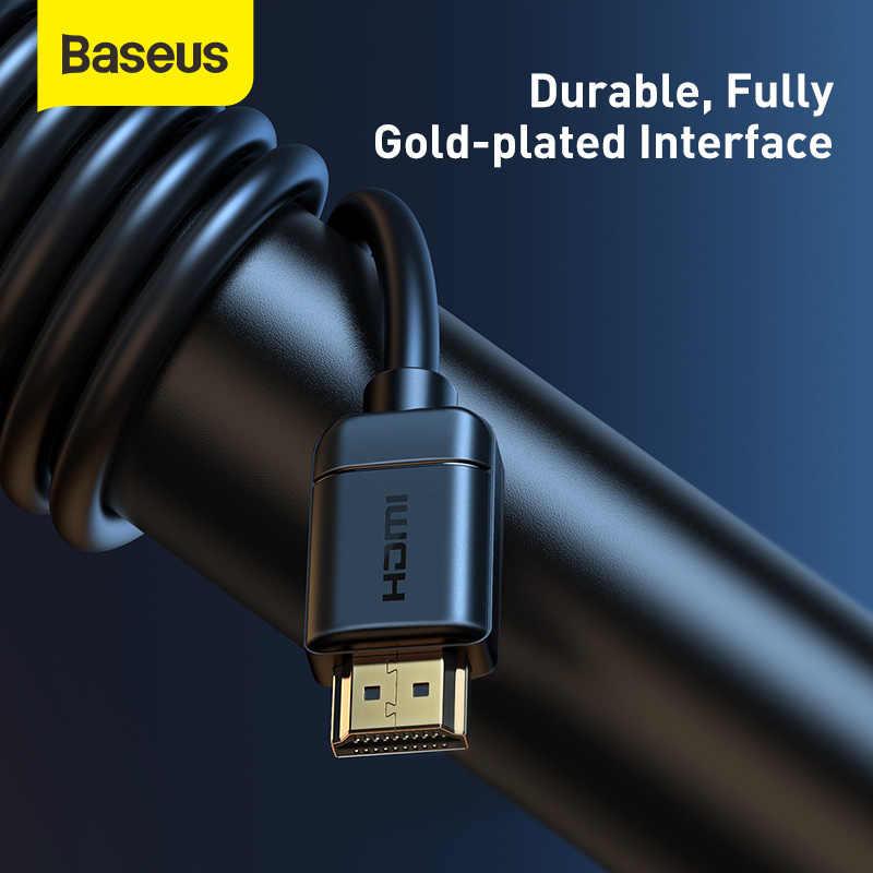 Baseus HDMI כבל 4K כדי HDMI 2.0 וידאו כבל עבור טלוויזיה צג דיגיטלי ספליטר PS4 Swith תיבת מקרן Displayport HDMI חוט כבל
