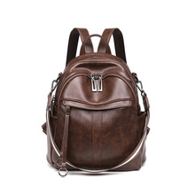 WESTCREEK Anti-theft Leather Small Backpack Purse Women College School
