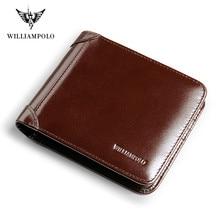 Men wallet Full Grain Leather Short wallet men's casual multi-function card bag Coin Purses Money Bag Credit Card Cowhide P285