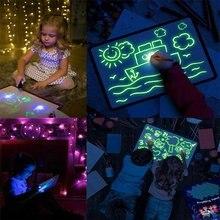 A5 A4 3d светильник для рисования, светящаяся доска для рисования граффити, волшебный обучающий светильник, веселая развивающая игрушка, доска для записей