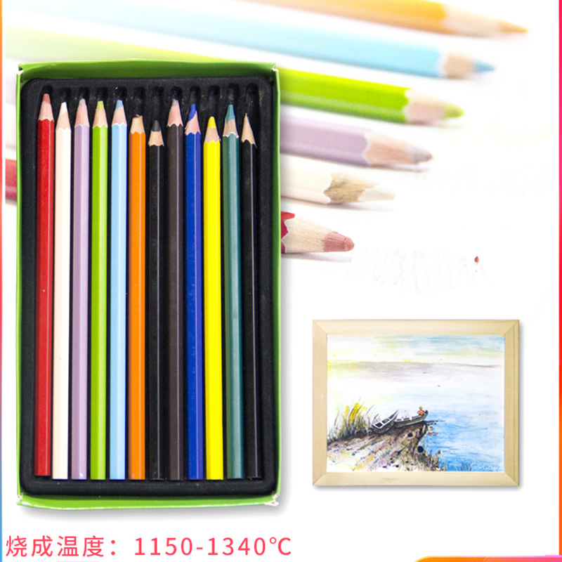 Underglaze Color Pencil High Temperature Glaze Ceramic Pottery Painting Tools 12 Color Can Choose