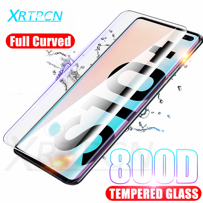 800D Full Curved Tempered Glass On The For Samsung Galaxy S10 S8 S9 Plus S10e Note 8 9 10 Pro Screen Protector Glass Film Case