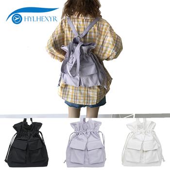 Hylhexyr College Style torba damska plecak o dużej pojemności z płótna dla ucznia plecak tanie i dobre opinie Płótno Tłoczenie Unisex Miękka 20-35 litr Miękki uchwyt Plecaki NONE Hasp Klapa kieszeni Żywica siatki TS-YF468 COTTON