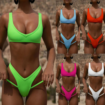 2020 Bandeau Bikini Set Women Swimwear Sexy Push Up Summer Bathing Suit Beachwear Poland Female Biquini Maillot