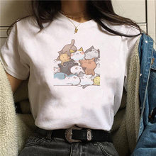 Женские футболки с мультяшным принтом летние harajuku ulzzang