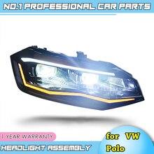 Автомобильный Стайлинг для VW Polo фары- Polo светодиодный фонарь DRL фара ближнего света дальнего света все светодиодный