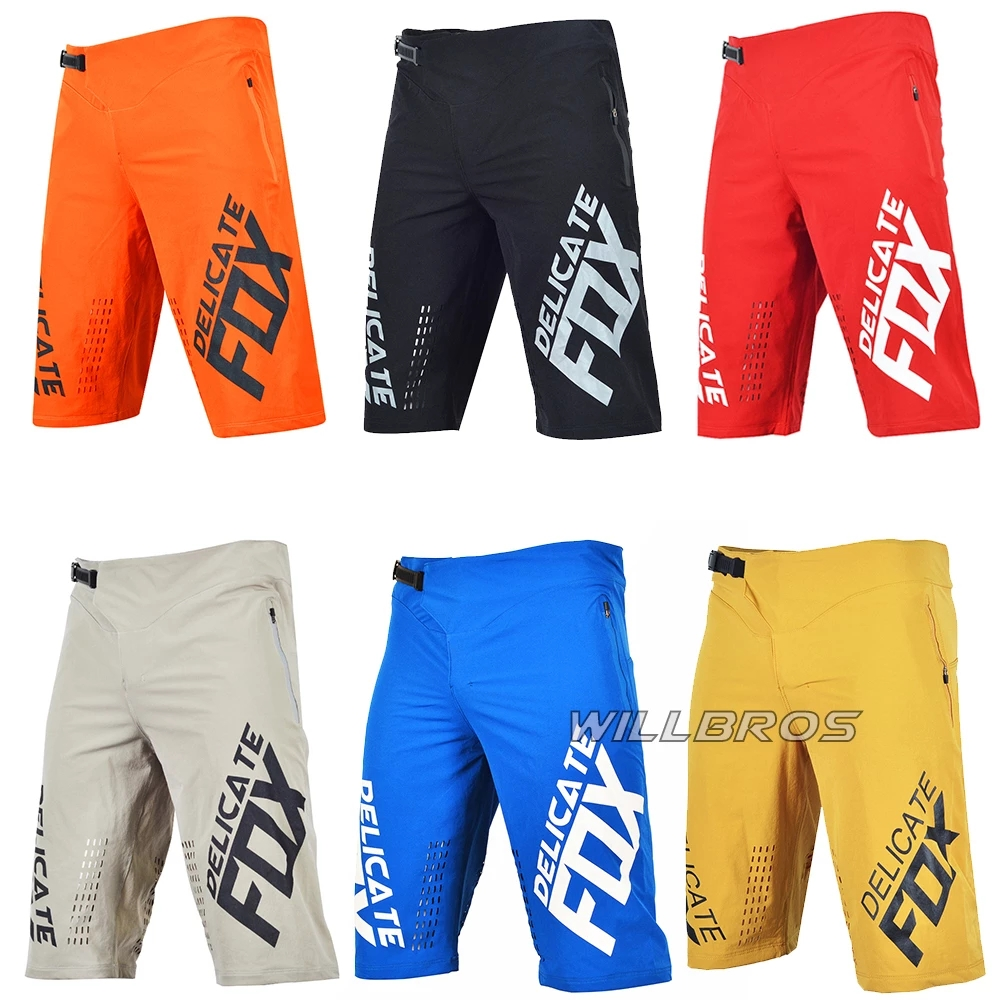 Delicate Fox Defend Racing Summer Short Pants Mountain Bicycle Offroad Motocross Shorts