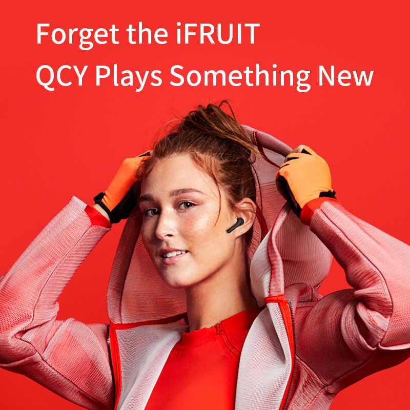 2019 QCY T5 真のワイヤレスイヤホン Bluetooth 5.0 タッチコントロールスポーツヘッドフォンステレオサウンドヘッドセット音楽