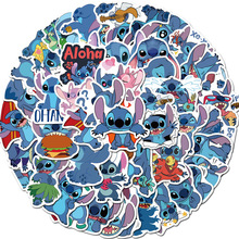 50PCS Cartoon Stickers Stitch Graffiti Punk Waterproof Decal Laptop Motorcycle Luggage Snowboard Car Sticker