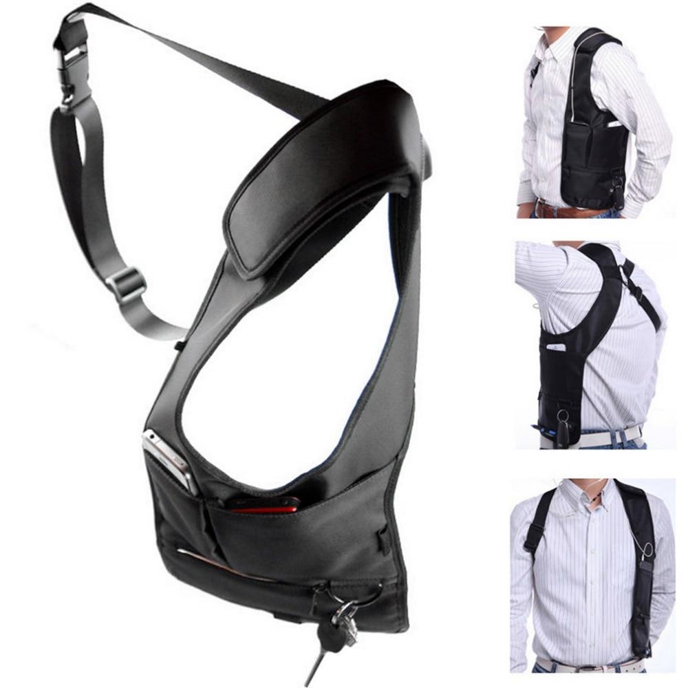 Armpit Bag With Adjustable Strap Anti-theft Portable Chest Bags Men Underarm Shoulder Hidden Multi Pockets Messenger Sling Bag