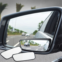 2Pcs Car Blind Spot Mirror 360 Degree Adjustable Wide Angle Convex Rear View Parking Rearview round long