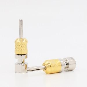 Image 1 - 4ps Cardas CAB single Banana plug ,Rhodium plate 4mm cable terminate hole