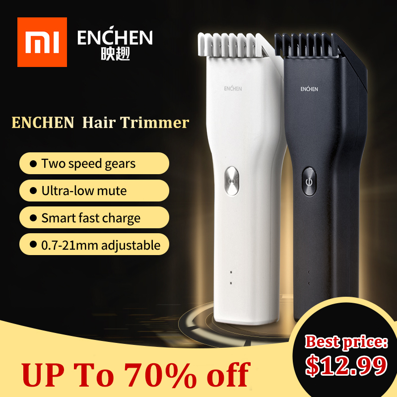 XIAOMI ENCHEN Hair Clipper Trimmer professional USB Rechargeable Cordless Hair Cutter For Men Low Noise Adjustable Ceramic Blade