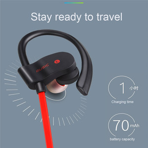 Image 4 - Wireless Bluetooth Earphones Sport Earbuds Stereo Headset With Mic Earloop Ear Hook Headphone Handsfree Earpiece For Smartphones